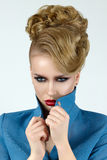 Portrait of young beautiful blond woman Stock Photo