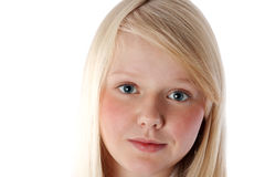 Portrait of the young beautiful blonde Stock Photography