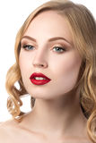 Portrait of young beautiful blonde woman Royalty Free Stock Image