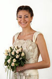 Portrait of young beautiful bride Stock Photo