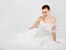Portrait of young beautiful bride Stock Images