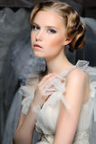Portrait of the beautiful bride Royalty Free Stock Photography