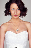 Portrait of young beautiful bride Royalty Free Stock Photography