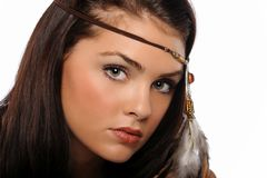Portrait of Young Beautiful brunette Royalty Free Stock Photography