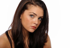 Portrait of Young Beautiful brunette Royalty Free Stock Image