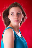 Portrait of young beautiful brunette Stock Photography