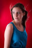 Portrait of young beautiful brunette Royalty Free Stock Photos