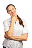 Portrait of young beautiful business woman Royalty Free Stock Images