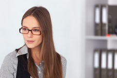 Portrait of young beautiful business woman. Stock Photo