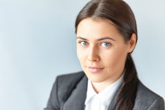 Portrait of young beautiful business woman Royalty Free Stock Image