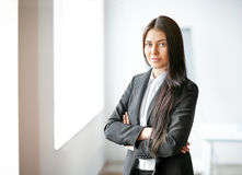 Portrait of young beautiful business woman Royalty Free Stock Photo