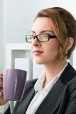 Portrait of young beautiful business woman Stock Photos