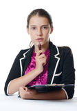 Portrait of the young beautiful businesswoman Stock Images