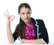 Portrait of the young beautiful businesswoman Royalty Free Stock Photo