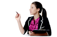 Portrait of the young beautiful businesswoman Stock Photo