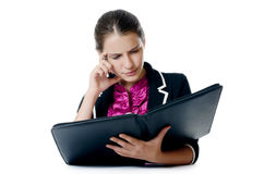 Portrait of the young beautiful businesswoman Royalty Free Stock Images