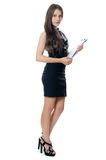 Portrait of the young beautiful businesswoman Stock Photography