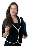 Portrait of the young beautiful businesswoman Stock Image