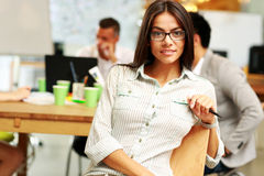 Portrait of a young beautiful businesswoman Stock Images