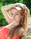 Portrait of an young beautiful charming woman Stock Photography