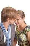 Portrait of a young beautiful couple. Royalty Free Stock Photos