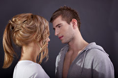 Portrait of a young beautiful couple Stock Image
