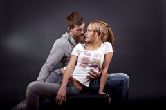 Portrait of a young beautiful couple royalty free stock image