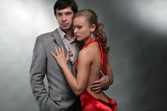 Portrait young beautiful couple Royalty Free Stock Photography