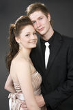 Portrait of a young beautiful couple embracing. Stock Image