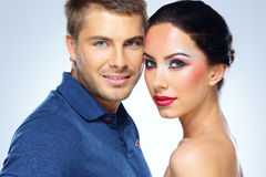 Portrait of a young beautiful couple Royalty Free Stock Photography