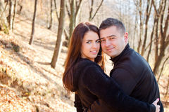 Portrait of young beautiful couple in love Royalty Free Stock Photo