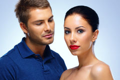 Portrait of a young beautiful couple Stock Images