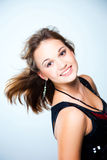 Portrait of young beautiful disco dancer girl Stock Images