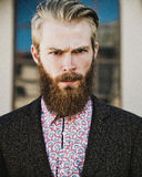 Portrait of young beautiful fashionable man Stock Photography