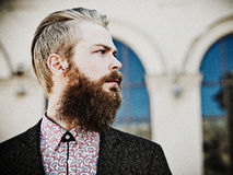 Portrait of young beautiful fashionable man Stock Images