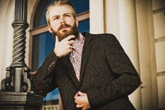 Portrait of young beautiful fashionable man Stock Photo