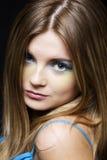 Portrait young beautiful girl Stock Photos