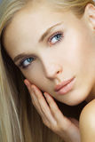 Portrait of young beautiful girl. Face. perfect skin Stock Image