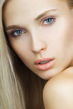 Portrait of young beautiful girl. Face. perfect skin Stock Images