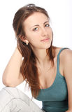 Portrait of young beautiful girl stock photos