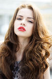 Portrait of young beautiful girl Stock Photo