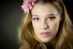 Portrait of young beautiful girl Royalty Free Stock Photography