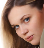 Portrait of the young beautiful girl Stock Photo