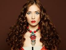 Portrait of young beautiful girl. Fashion photo Royalty Free Stock Photo