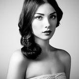 Portrait of young beautiful girl. Fashion photo Stock Photography