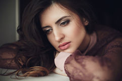 Portrait of young beautiful girl. Royalty Free Stock Image