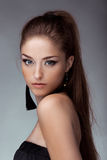 Portrait of young beautiful girl. Fashion photo Royalty Free Stock Photography