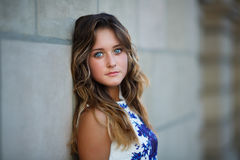 Portrait of young beautiful girl Stock Image