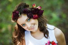 Portrait of young beautiful girl stock images