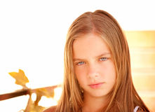 Portrait of young beautiful girl-teenager Stock Images